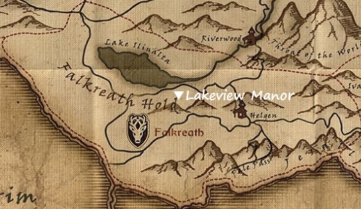 Notable Locations in Skyrim Map-falkreath_hold-lakeview_manor
